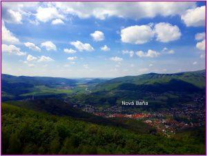 Takéto krásne výhľady sa naskytnú z Rozhľadne Háj na Nový Baňu a okolie